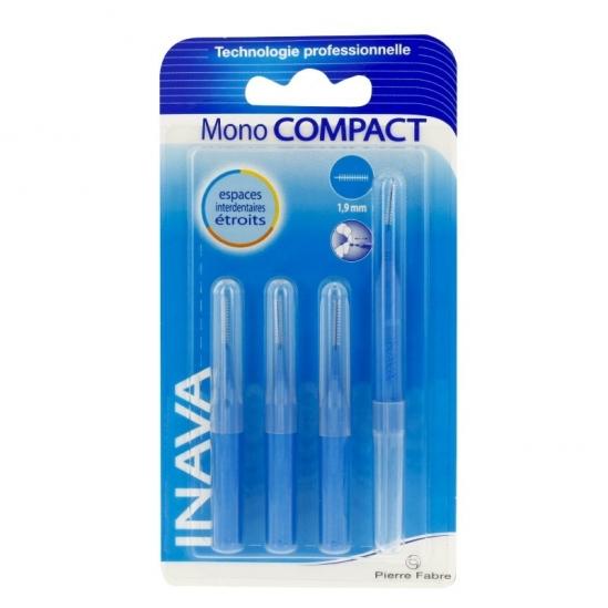 Inava Brossettes interdentaires mono compact bleu 4 brossettes