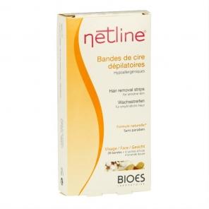 Netline cire dépilatoire visage 20 bandes