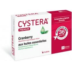 Cystera Premium Cranberry et Huiles Essentielles10 Gélules