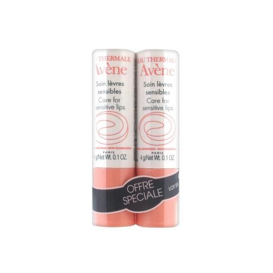 Avène Soin Lèvres Sensibles Lot de 2 x 4 g
