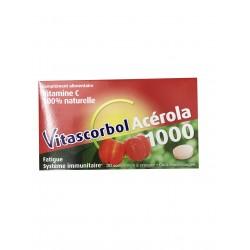 Vitascorbol Acerola 1000 mg Boîte 30 comprimés