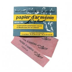 Papier d'Arménie Carnet triple douze lamelles 12 feuilles
