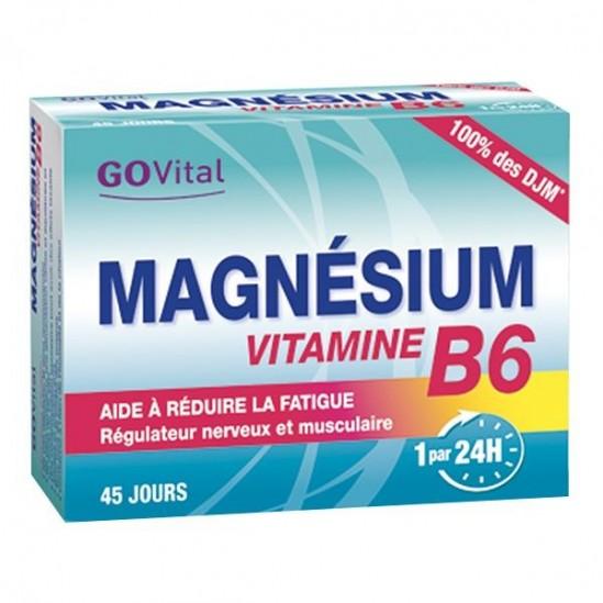 Go Vital magnésium vitamine B6 45 comprimés