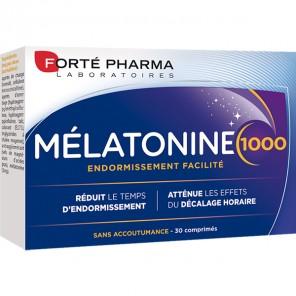 Forté Pharma mélatonine 1000 endormissement facilité 30 comprimés
