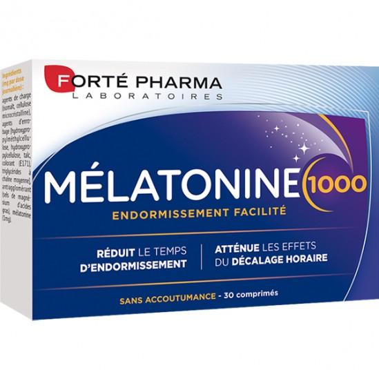 Forté Pharma melatonine 1000 endormissement facilité 30 comprimés