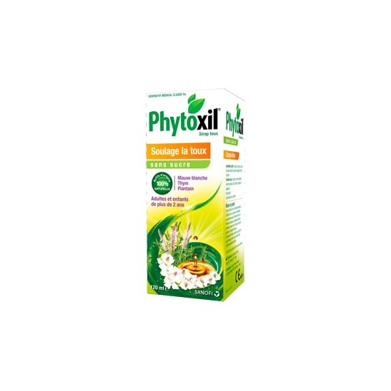 Sanofi Phytoxil sirop toux sans sucre flacon 120ml