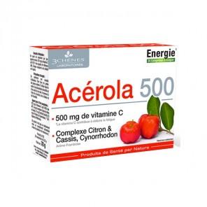 3 Chênes Acérola 500 acérola et vitamine C boîte de 24 comprimés