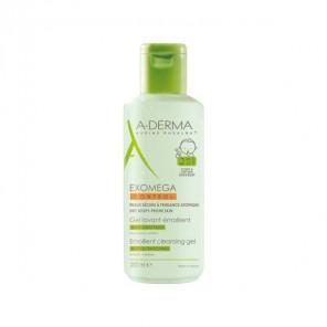 A derma exomega control 2 en 1 gel lavant émollient corps et cheveux, 200ml