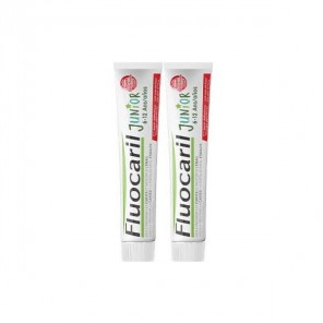 Fluocaril junior dentifrice gel fruit rouge 6-12 ans 75mlx2