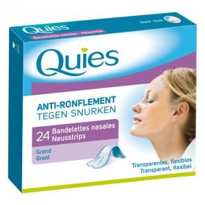 Quies bandelettes nasales anti ronflement boite de 24
