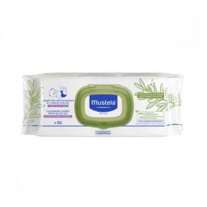 Mustela lingettes nettoyantes bébé à l'huile d'olive x50