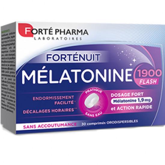 Forté pharma forté nuit mélatonine 1900 flash 30 comprimés